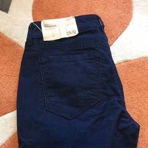 NWT Navy corduroy jeans